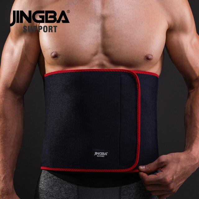 JINGBA SUPPORT Sport waist support belt weightlifting Back Support bar Protective gear Neoprene waist trimmer fitness sweat belt 3
