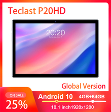 Teclast P20HD 4G Phone Call Tablets Octa Core Android 10 SC9863A GPS 10.1 inch IPS 1920×1200 4GB RAM 64GB RAM 6000mAh Tablet pc