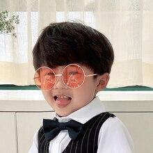 Модные ретро круглые прозрачные линзы солнцезащитные очки из сплава Детские Солнцезащитные очки женские очки круглые очки женские солнцез...