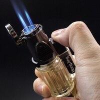 1300 C wiatroszczelna latarka Jet Turbo zapalniczka gazowa trzy dysze grill zapłon nadmuchiwane butan pistolet cygaro papierosy zapalniczki