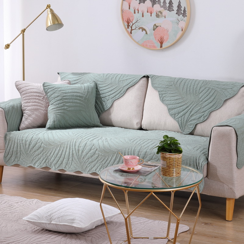 Купить комбинированный чехол для дивана из хлопковой ткани на все сезоны