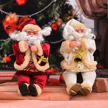 Funny Christmas Tree Decor Santa Claus Window Doll Ornaments New Year Decorations Gifts CM