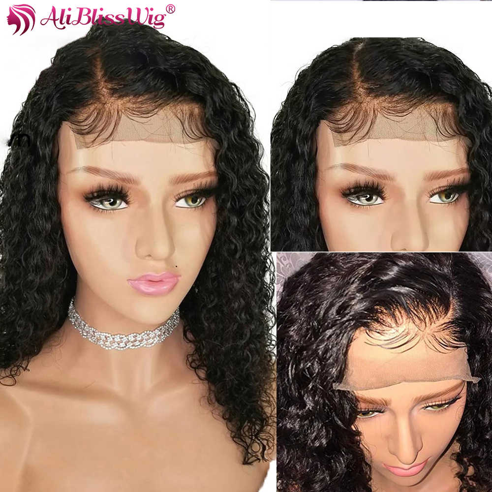 4x4 Lace Closure Wigs Curly Human Hair Wigs Black Women Front 2x6 Lace Closure Wigs 6 Inch Deep Part Pre Plucked Baby Hair Remy