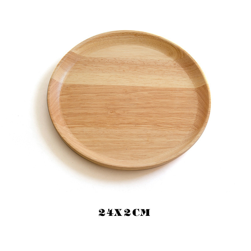 Wooden Round Storage Tray Plate Tea Food Dishe Drink Platter Food Plate Dinner Beef Steak Fruit Snack Tray Home Kitchen Decor - Цвет: 20