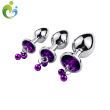 anal plug anal crystal beads jewelry round butt plug intimate goods sex toys stainless steel dildo anal plug gay adult toys 10.9