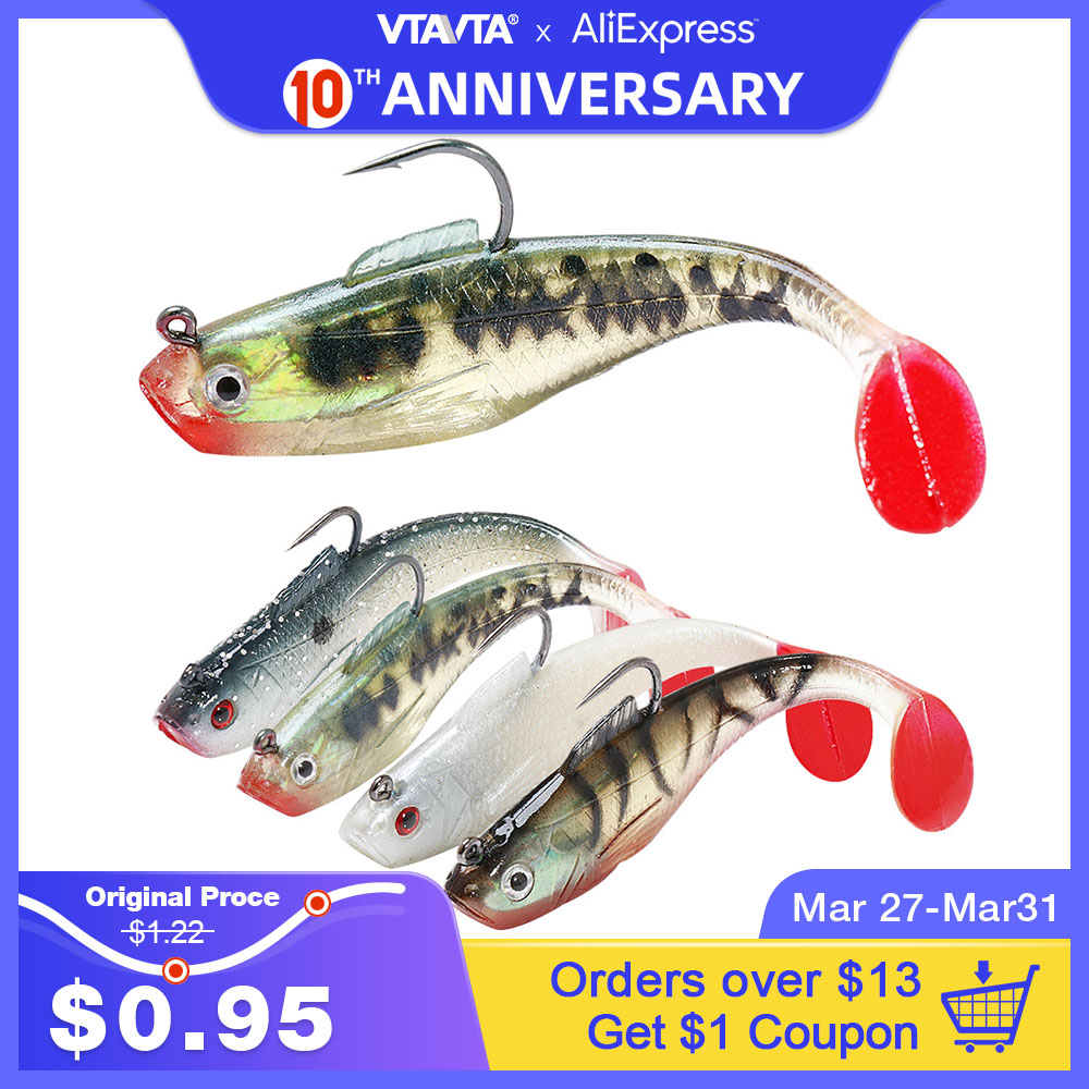VTAVTA 26g Lead Head Silicone Bait Fishing Lure Soft Baits Artificial Worm Lure Wobblers For Pike Winter Fishing Tackle Lures