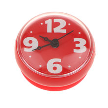 Suction Cup Wall Clock Timer Bathroom Shower Silicone Clock, Waterproof Sticker, Wall Clocks(China)