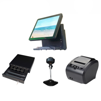whole set 15 inch single-screen touch POS machine all-in-one POS terminal point of sale for Restaurant