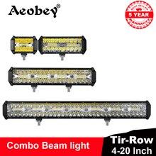 """Aeobey 4""""7""""12""""20"""" led work light bar led light bar 4x4 accessories off road for ATV UTV turck 12V 24v led bar for Driving light"""