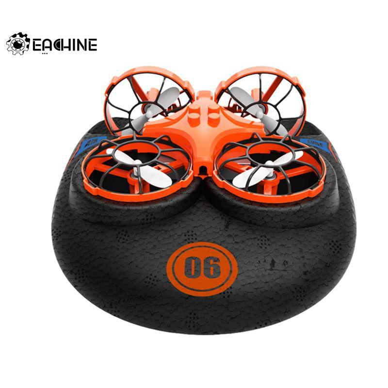 Eachine E016F 3-en-1 EPP avion volant bateau terre Mode de conduite détachable RC Drone quadrirotor pour enfant cadeau 3