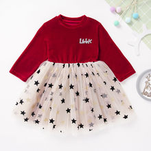 Toddler Baby Kids Girls Christmas Day Romper Tops Tutu Dress Fashion Long Sleeve O-neck Kids Dresses For Girls ropa niña(China)