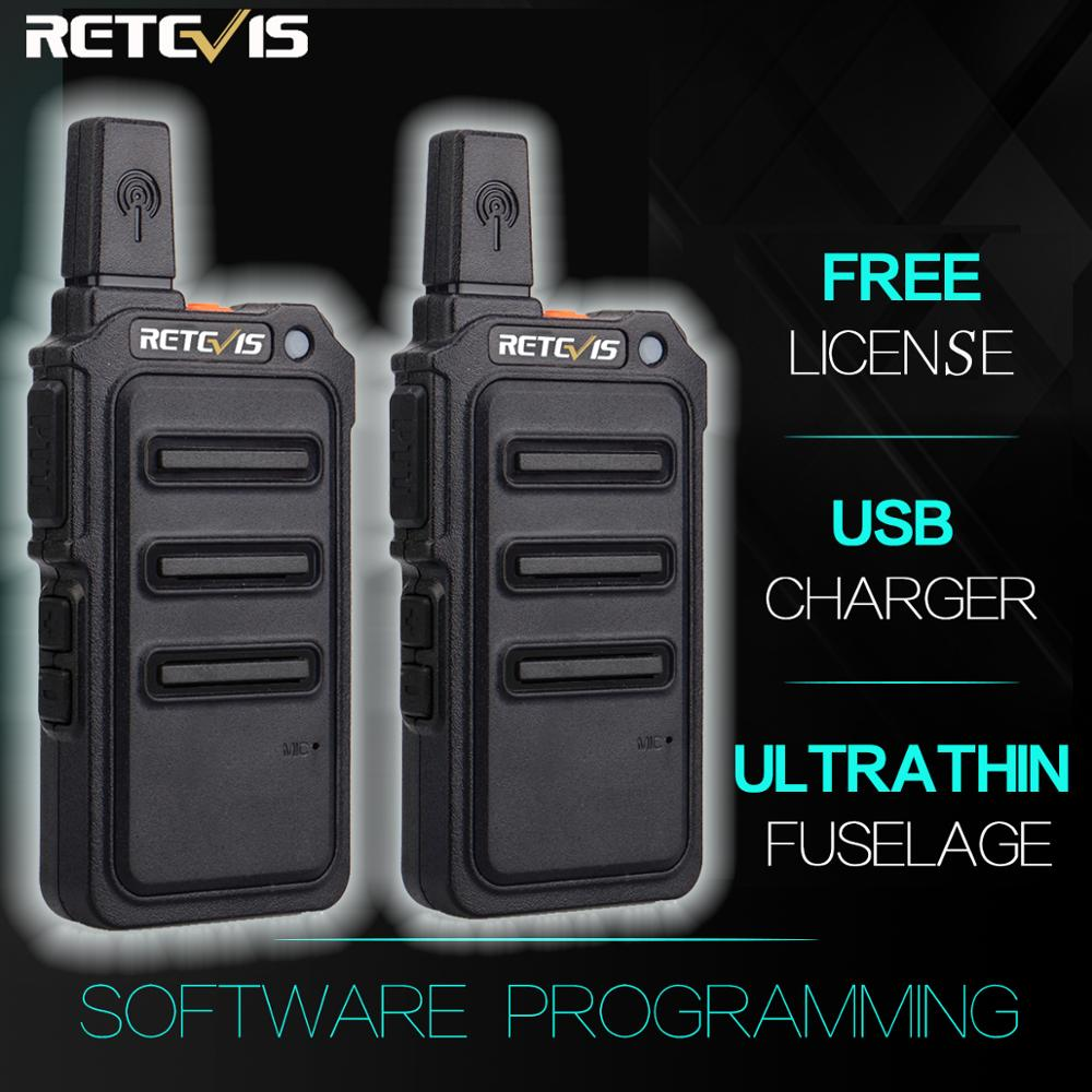 2PCS RETEVIS RT19/RT619 Walkie Talkie PMR Radio FRS/PMR446 VOX Scrambler Frequency Hopping Two Way Radio Transceiver Comunicador