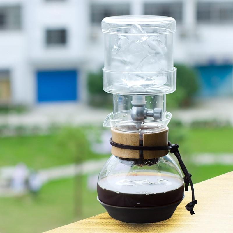 400ml Iced Coffee Maker Glass Ice Drip Coffee Pot Percolator Set v60 Ice Coffee Dripper Glass Filters Cold Brew Espresso Machine