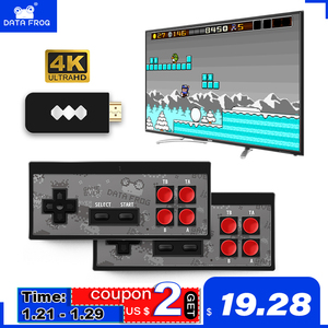 Data Frog USB Беспроводная портативная ТВ-видео игровая консоль Встроенная 1400 NES Классическая 8-битная игровая мини-консоль двойной геймпад HDMI вы...