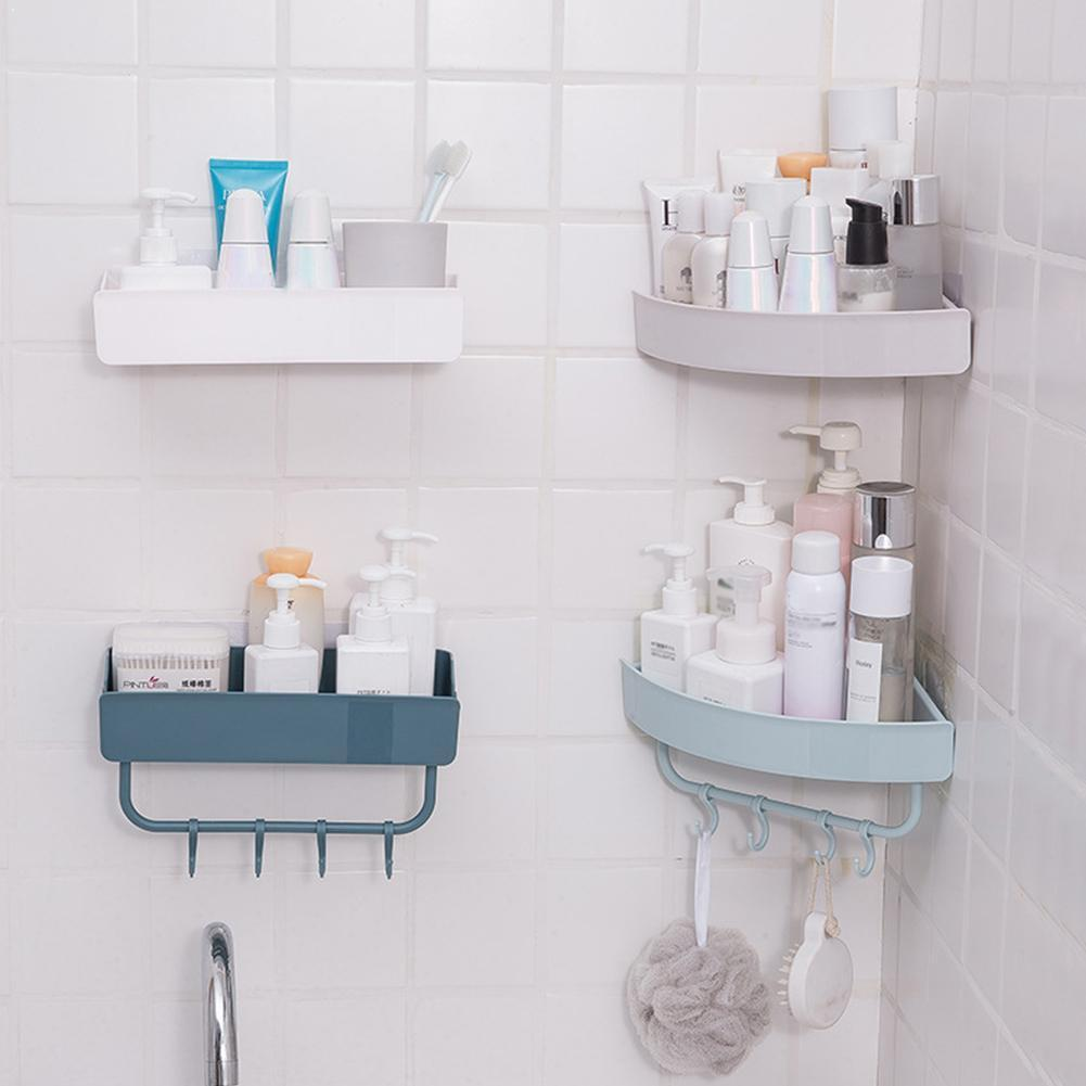 Portable Bathroom Storage Rack Draining Design Space Plastic Storage Rack For Home Separable Saving Storage Box D0E5