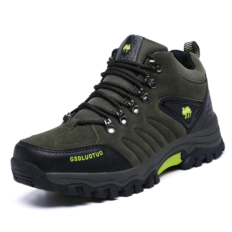 LION SCREAM Men's Tactical Boots Genuine Leather Men Outdoor Shoes Breathable Sneaker Mountain Hiking Shoes Men Hunting Boots 47