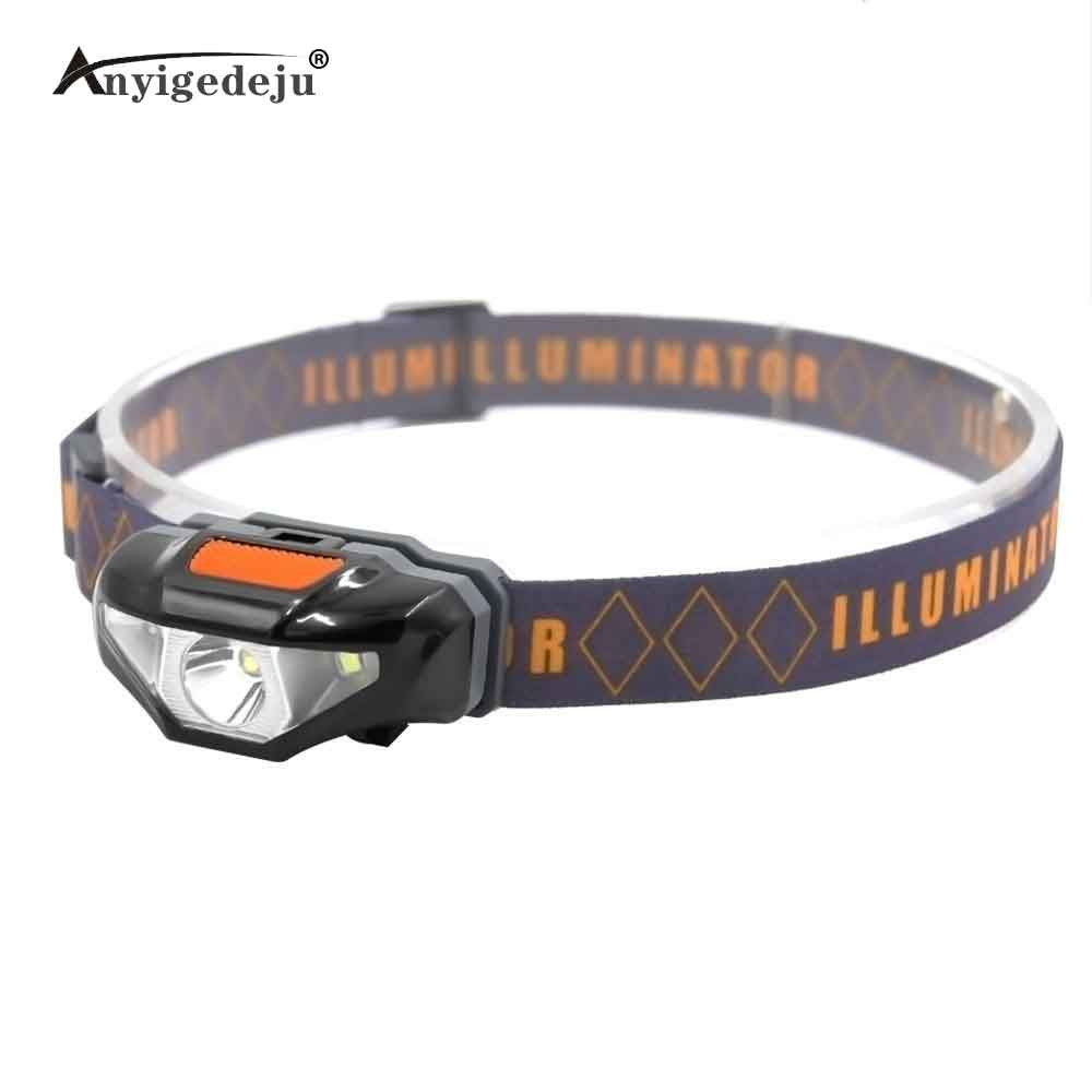 ANYIGEDEJU Mini Head Lamp 3 Modes Waterproof COB LED Flashlight Headlight Headlamp Torch Lanterna With Headband Use AA Battery