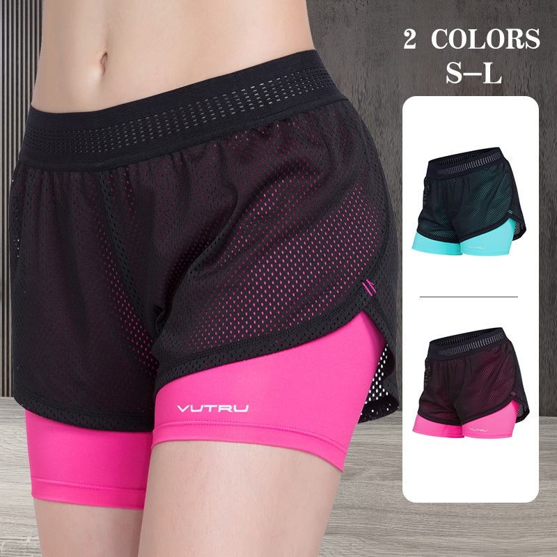 BKRIVE женские шорты для йоги 2 в 1, спортивные бесшовные синие розовые шорты для бега, женские шорты для фитнеса и тренировок, дышащие штаны для ...
