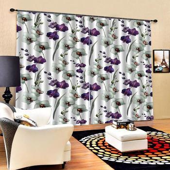 purple flower curtains 3D Window Curtain Dinosaur print Luxury Blackout For Living Room
