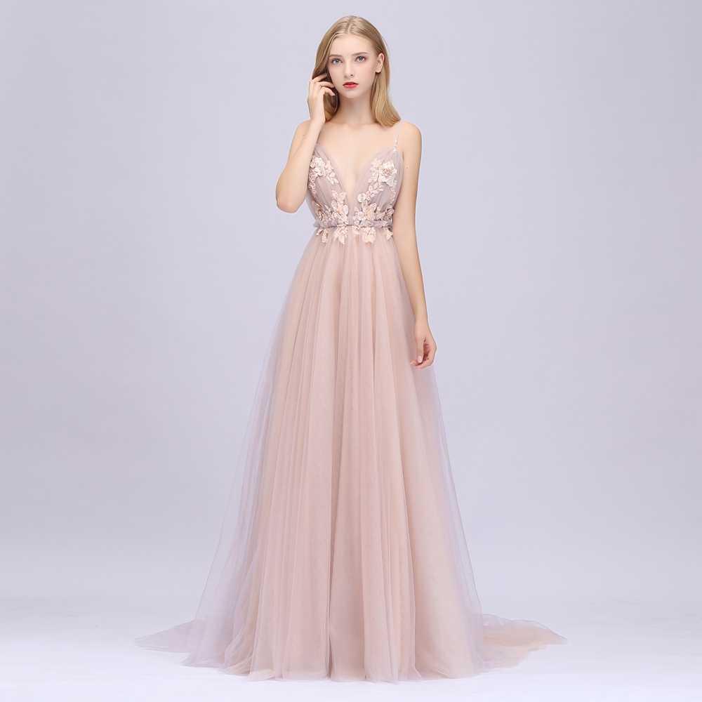 Женское платье SSYFashion, кружевное вечернее платье без рукавов с глубоким вырезом и открытой спиной