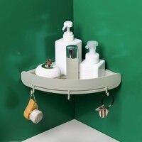Narożna trójkątna półka do przechowywania ściana prysznica regał organizer do zawieszenia organizer łazienkowy trwała plastikowa półka łazienkowa x w Półki i stojaki od Dom i ogród na