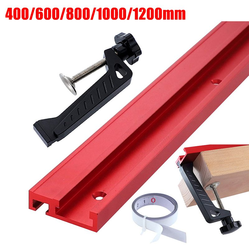 400/600/800/1200MM Universal Aluminium 45mm Track Chute Pusher Electric Circular Saw Flip Table Woodworking DIY Accessories