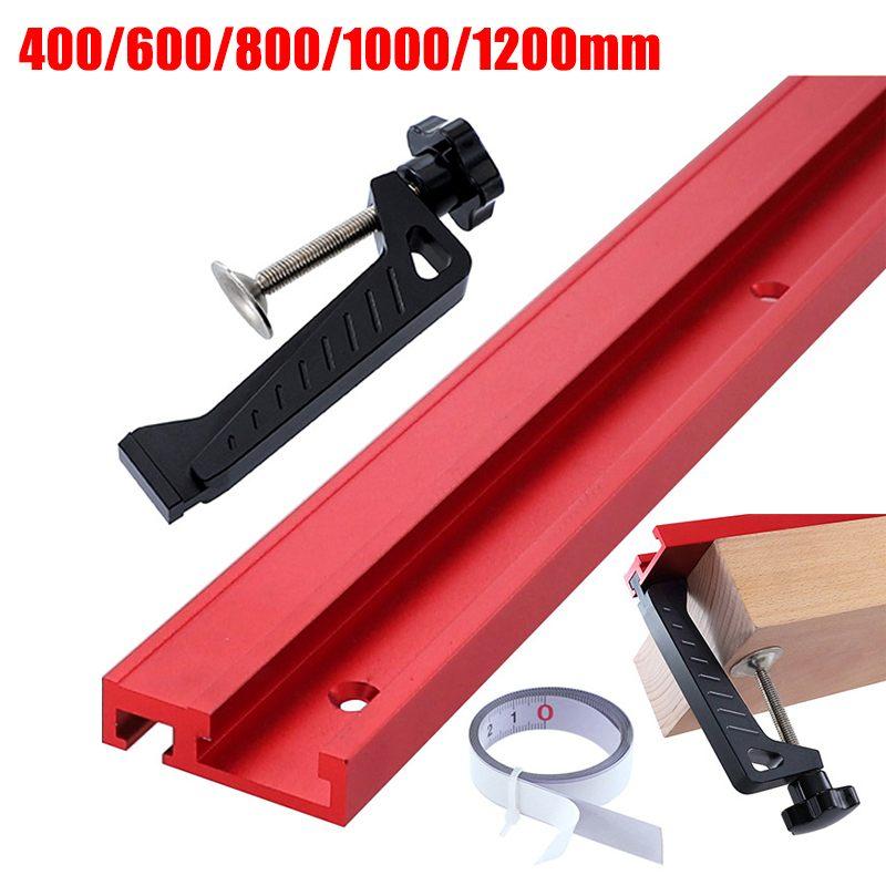 400/600/800/1200MM Universal Aluminium 45mm Track Chute Pusher Electric Circular Saw Flip Table Woodworking DIY Accessories