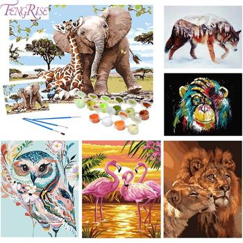 Animals Oil Painting By Numbers Adults Paints By Numbers Animals Pictures Oil Painting By Numbers Set Gift Coloring By Numbers фото