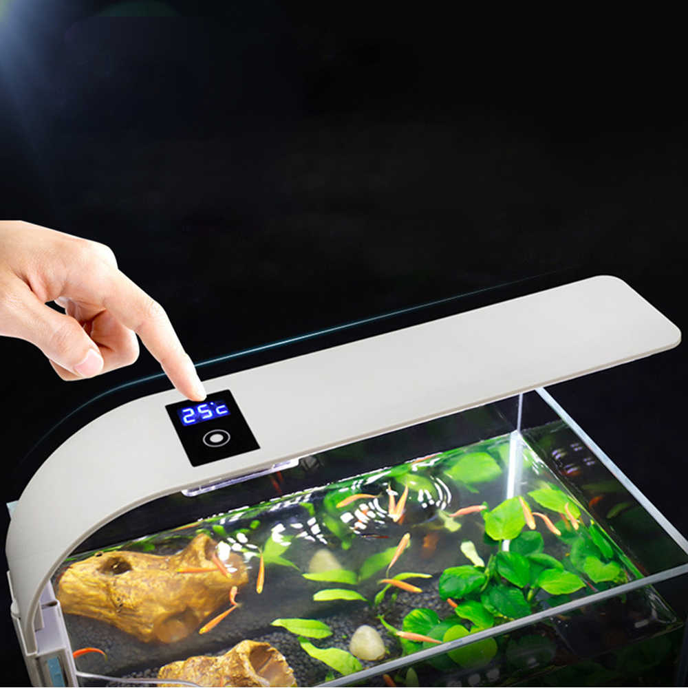 Aquarium LED Lighting พืช Slim Clip-on Fish TANK Light EU ปลั๊ก 15W แสงสีขาว 5730 LED Aquarium Plant Grow LIGHT