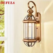 Современные Настенные светильники oufula светильник водонепроницаемый