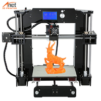 New Anet A6L DIY 3D Printer With Auto Self Leveling Sensor High Precision Reprap i3 DIY Max Printing Size 220*220*250mm