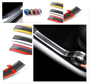 Car sill strip anti-tread sticker modified carbon fiber bumper parts for BMW EfficientDynamics E46 E39 E38 E90 E60 E93 F30 F31 image