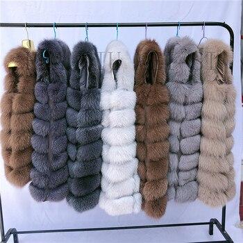 Natural Fox Fur Vest Lady Warm Vest Multicolor 100% Natural Fur Coat fox fur vest real fur vests sleeveless real fox fur coats new 2019 real fox fur handbag 100