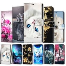 For Samsung Galaxy A20e Case Flip Leather Cover For Samsung A20e Phone Case Cute Cat