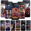 Smartphone Case For Samsung Galaxy Z Flip3 5G Z Flip 3 z flip ZF 5G Cover PC Capa Hard Funda Coque Marvel Avengers