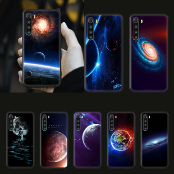 Space moon earth mars Phone Case cover For xiaomi Redmi note 4 5 6 7 8 A T X Plus Pro black funda soft waterproof painting prime image