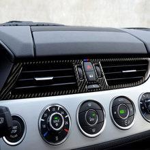 Para bmw z4 e89 2009-2015series fibra de carbono carro central ar condicionado tomada quadro adesivos guarnição cobre acessórios da série
