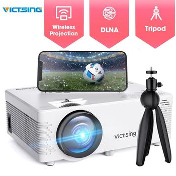 VicTsing Upgraded 1080P 170-inch Display Mini Projector Bluetooth Connection Screen Mirroring3800 Lux 2019 Portable Home Theater