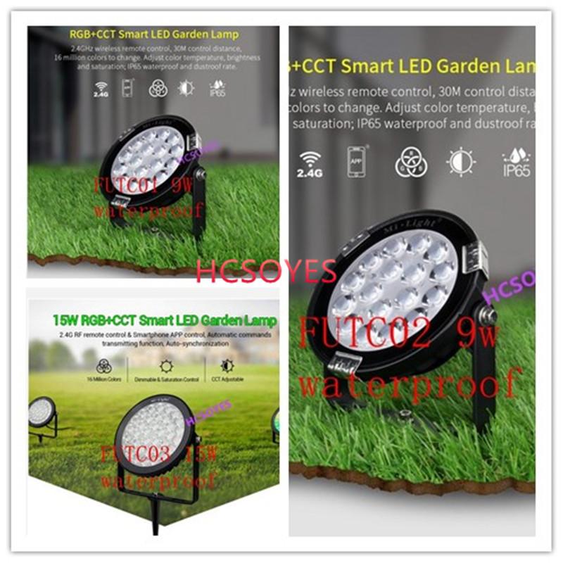 milight FUTC01/FUTC02/FUTC03 9W 15W RGB+CCT led Lawn Light IP65 Waterproof 24V 110V 220V Outdoor Garden Light