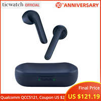 Ticwatch TicPods 2 Pro TWS Bluetooth Earphone AI Qualcomm QCC5121 Quick- Command Dual Mic Noise Cancelling With Charging Case