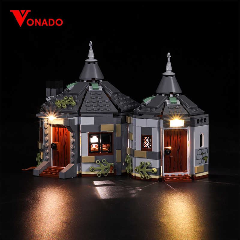 Vonado Led Light For Lego 75947 Hagrid Hut Buckbeak Rescue Building bricks Creator City technic Blocks Toys (Only Light)