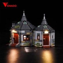 Vonado luz led para 75947 hagrid hut buckbeak resgate construção tijolos criador cidade blocos de técnica brinquedos