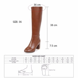 Image 5 - Womens Fashion Boots Knee High Slim Boots Solid Color Riding Boots Women Elegant Side Zip Comfortable Boots Plus size Shoes