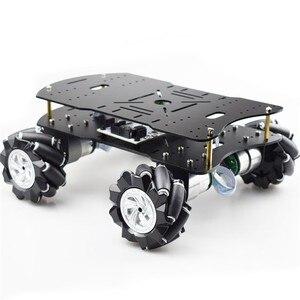 4WD Mecanum робот автомобиль умный автомобиль шасси комплект Грузоподъемность 10 кг w/80 мм 97 мм Omni колеса незавершенные