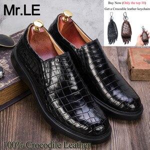 Мужские туфли из крокодиловой кожи, брендовые дизайнерские вечерние туфли из 100% натуральной кожи, роскошная повседневная обувь для отдыха ...