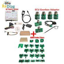 KTM FLAŞ V1.95 ECU Programcı ve iletim güç yükseltme aracı KTM Flash DiaLink J2534 Kablosu Yeşil Adaptör BDM22pcs
