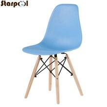 Современный минималистичный бытовой стул со спинкой в стиле