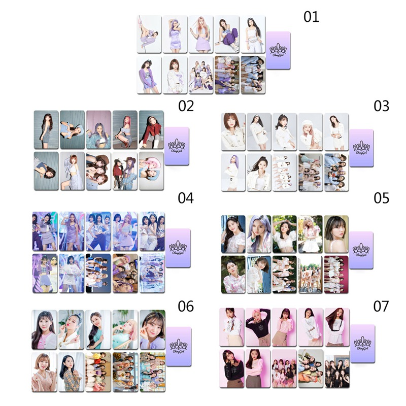 10Pcs/Set KPOP Oh My Girl Coated Paper Crystal Card LOMO Card Photocard For Fans Collection Photo Card