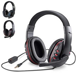Stereo Gaming Headset For Xbox one PS4 PC 3.5mm Wired Over-Head Gamer Headphone With Microphone Volume Control Game Earphone