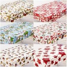 PVC Tablecloth Christmas-Printed Desktop-Decorations Rectangle Party Disposable Kitchen